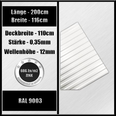 ral 9003 200cm